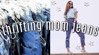 HOW TO THRIFT MOM JEANS