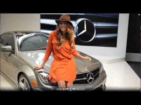 Sweet Zita Vass And Mercedes C63 AMG Coupe