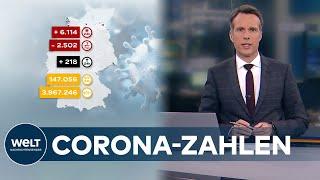 Blicken wir auf die corona-zahlen für deutschland an diesem sonntag. 7-tage-inzidenz ist weiter 57,4 gefallen.dem robert koch-institut wurden seit ge...