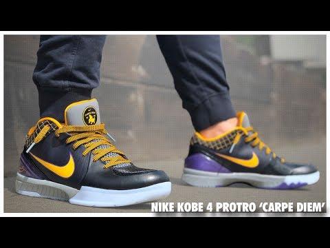 Nike Kobe 4 Protro 'Carpe Diem' - YouTube