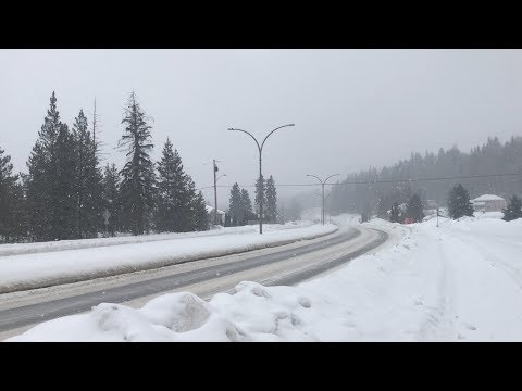 Snow is falling once again in Prince George