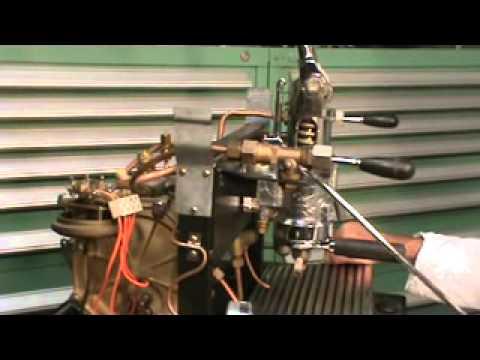 La San Marco Model 80 One Group Lever Espresso Machine - YouTube