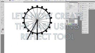 How to create ferris wheel in Illustrator