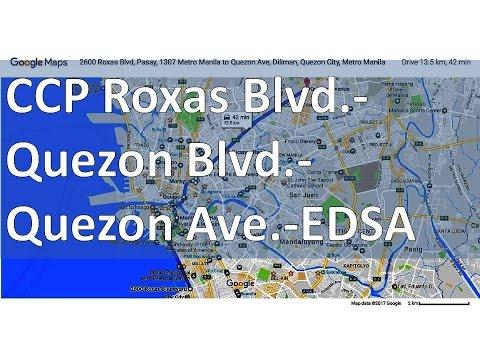 CCP Roxas Blvd-Quezon Blvd-Espana Blvd-Quezon Ave-EDSA