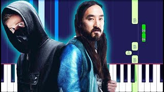 Steve Aoki & Alan Walker - Are You Lonely feat. ISAK Piano Tutorial EASY (Piano Cover)