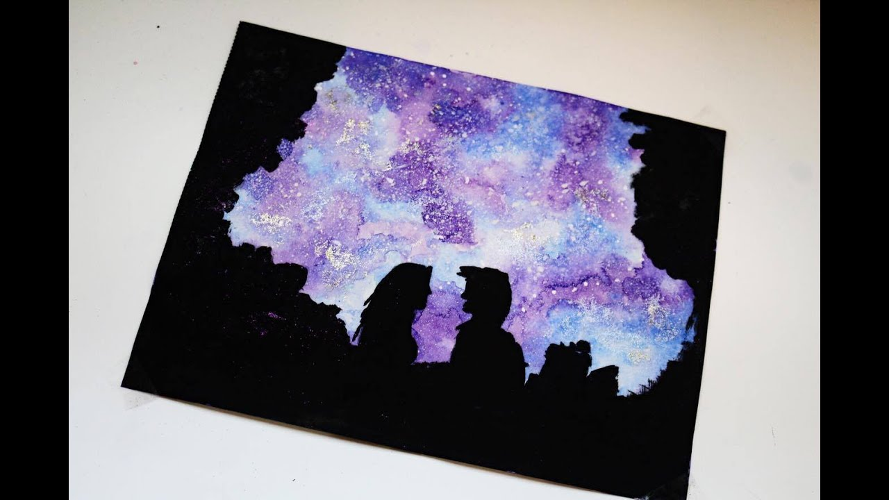 How to paint a watercolor galaxy tutorial youtube for Video tutorial on watercolor painting