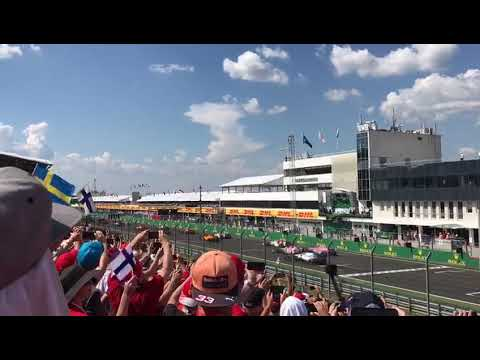 F1 Hungary 2018 start from the orange side