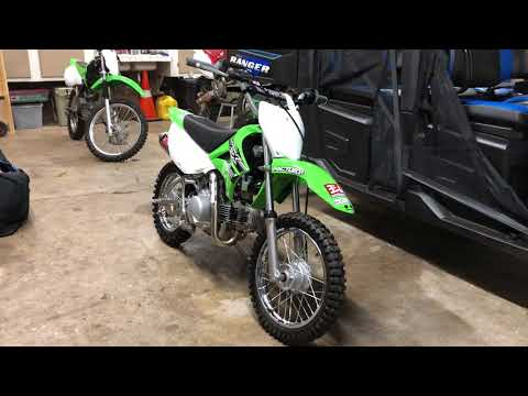 Repeat KLX 110 PIT BIKE BUILD - NEW EXHAUST!! by Zay Solis