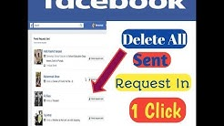 How To Cancel All Sent Friend Request On Facebook in 1 Click #Latest_Trick