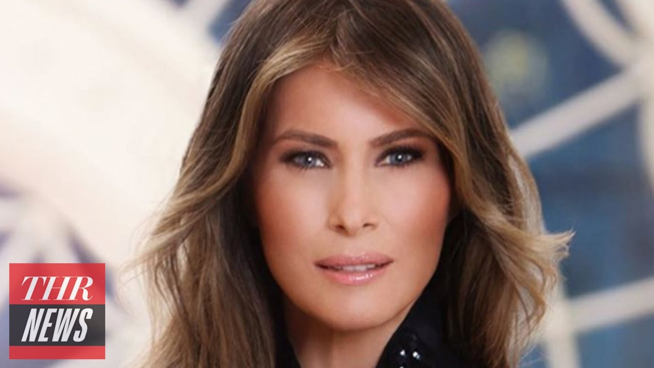 melania trumps official white house portrait puts 15 carat wedding ring front center thr news - Melania Trump Wedding Ring