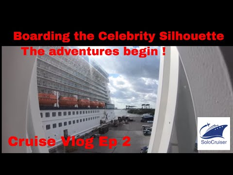 Boarding the Celebrity Silhouette Cruise Vlog Ep 2. sailing from fort lauderdale