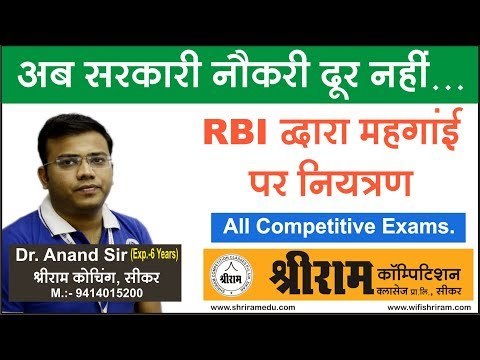 INFLATION- Monetary Policy RBI changes Repo, CRR, SLR By- Anand Sir (exp.- 6 Years)