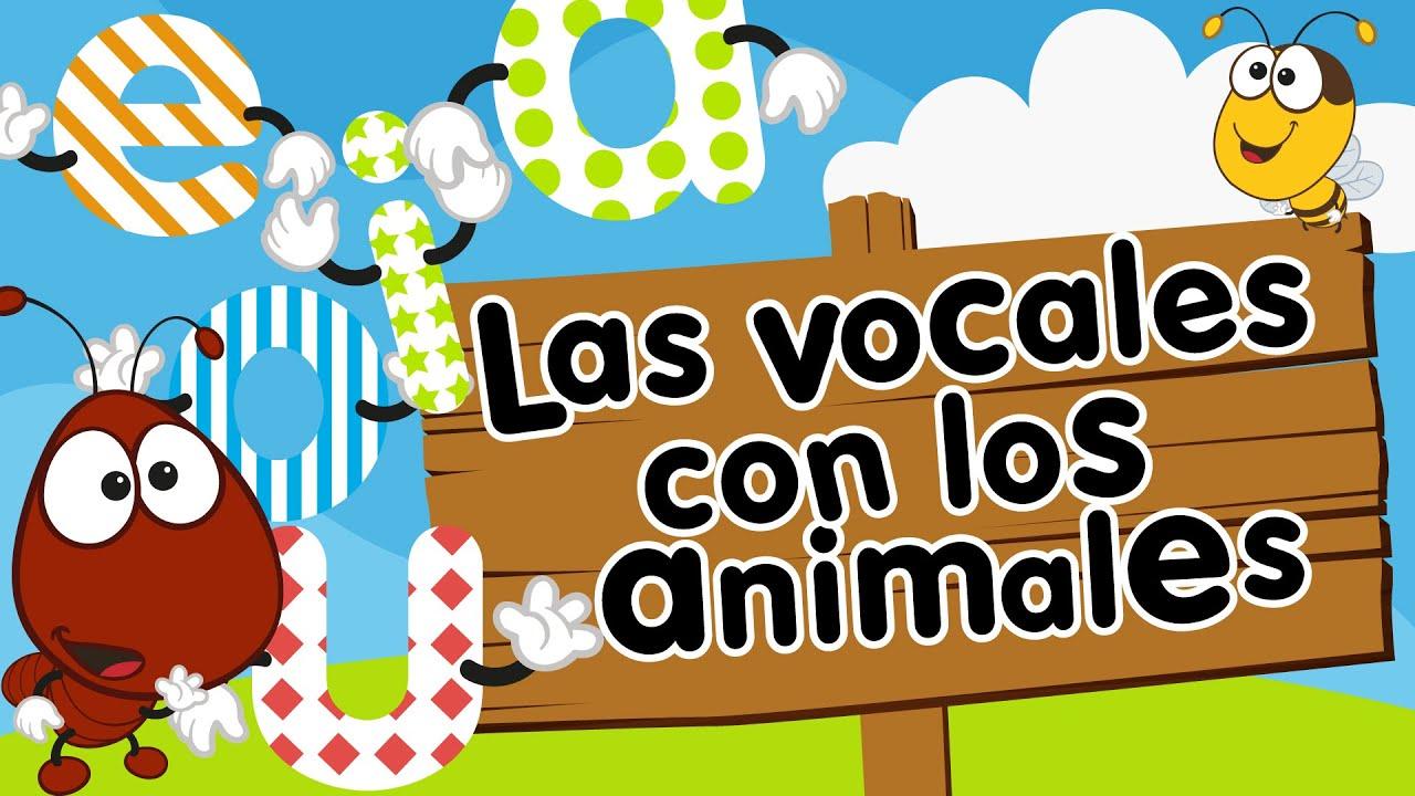 Las vocales A E I O U con animales para nios  YouTube