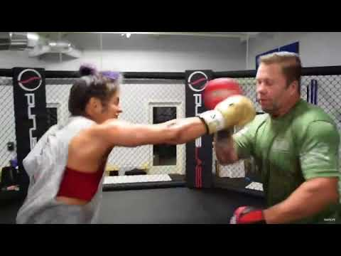 Cynthia Calvillo Impressive Striking with Boxing Coach Robert Meese