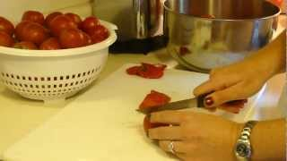 How to Make and Freeze EASY Garden Fresh Tomato Sauce Part 1