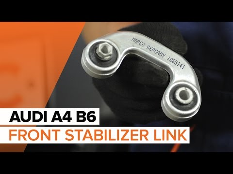 How to replace Front Anti Roll Bar Link on AUDI A4 B6 TUTORIAL | AUTODOC