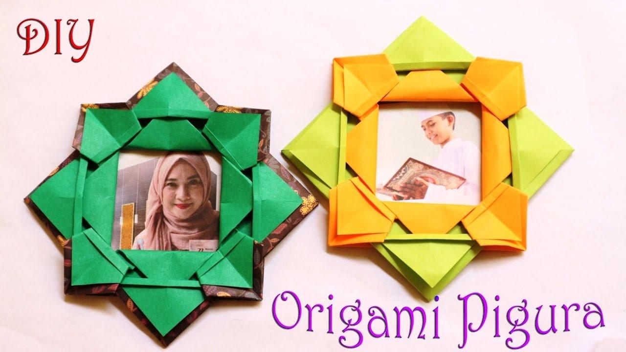 Cara Membuat Origami Bingkai Foto Mudah Origami Paper Photo Frame Youtube