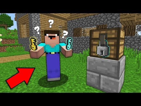 Minecraft NOOB Vs PRO: WHAT KEY WILL MAKE A NOOB RICH? Challenge 100% Trolling