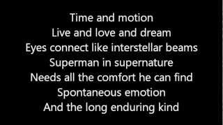 Rush-Time & Motion (Lyrics)