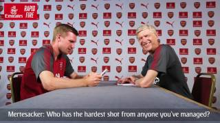 Per Mertesacker v Arsène Wenger | Emirates Airline