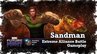 Marvel: Future Fight - F2P Sandman Tier 2 Combat Villain Gameplay | Extreme Alliance Battle