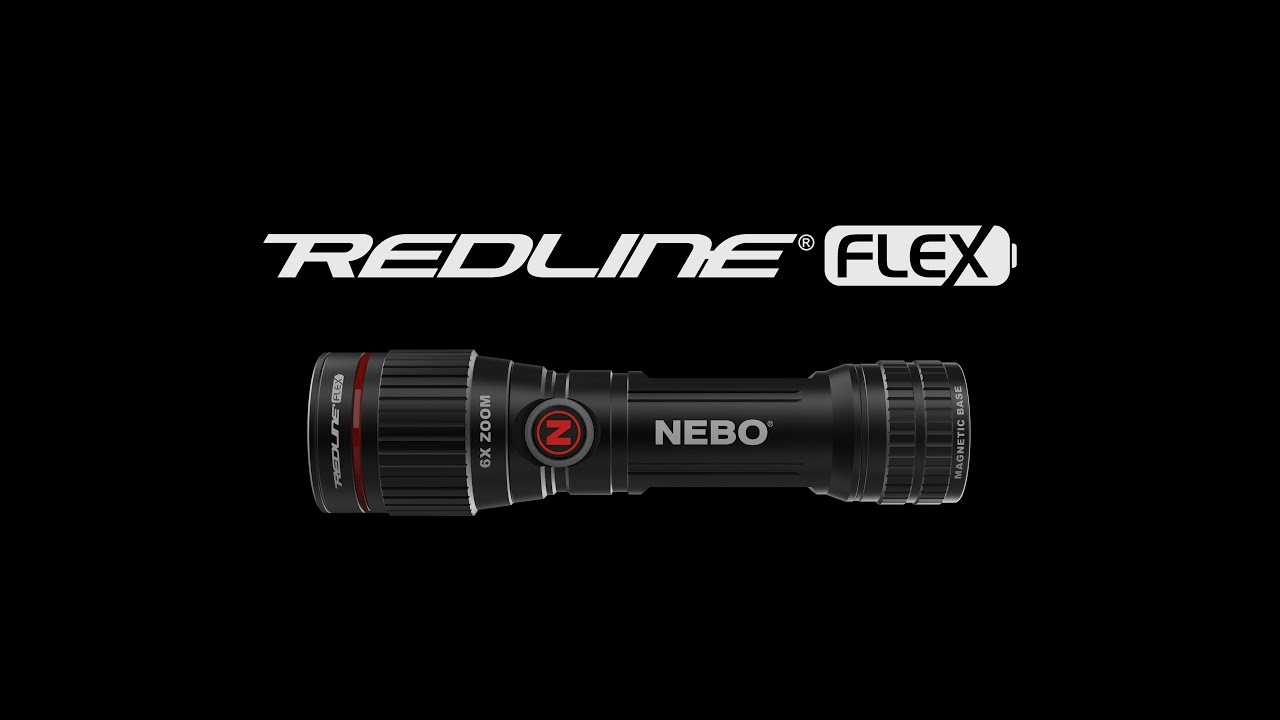 Redline FLEX by NEBO - 450 Lumen Rechargeable LED Flashlight with Flex Power
