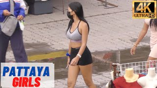 [4K] Pattaya Beautiful Girls, Beach Road, Soi Buakhao, Pattaya Tai #6