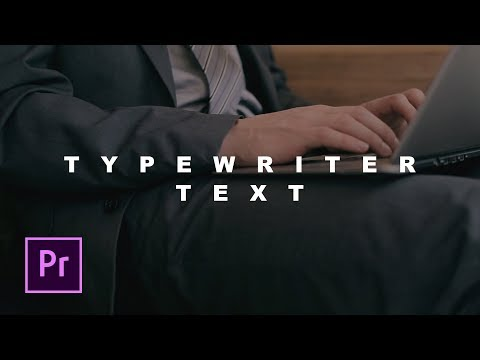 Tutorial Membuat Effect Teks Ketik ( Typewriter Text ) - Adobe Premiere Pro