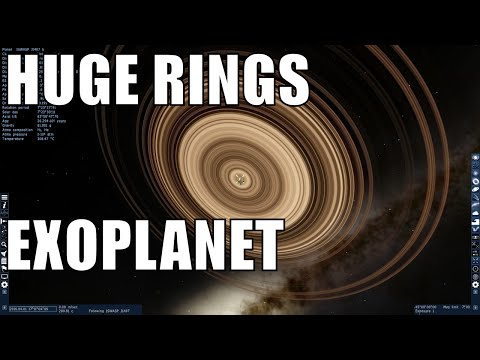 Unusual Exoplanet with GIGANTIC rings - J1407b in Space Engine