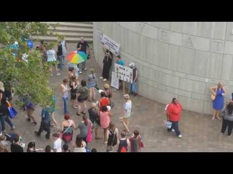 2013 Cincinnati Gay PRIDE festival protesters