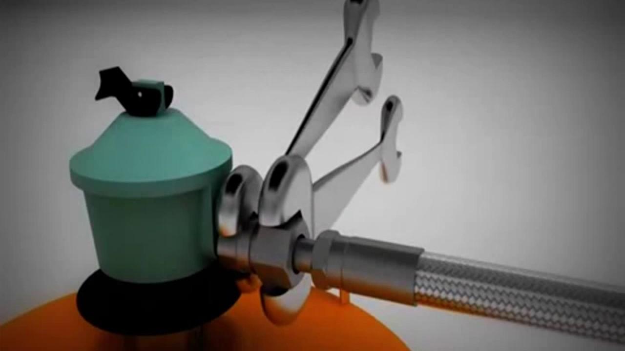 Instalaci n tubo flexible metalico en bombona de gas for Instalacion gas butano
