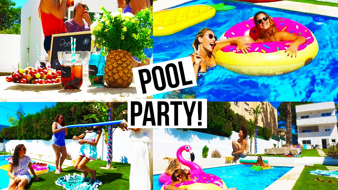 Pool party recettes d co activit s youtube - How to make a pool party ...