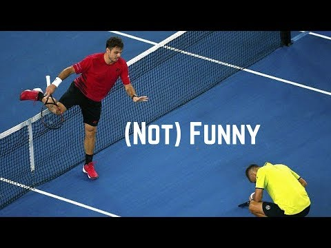 Tennis. Hitting The Opponent #Not Funny #Funny Moments