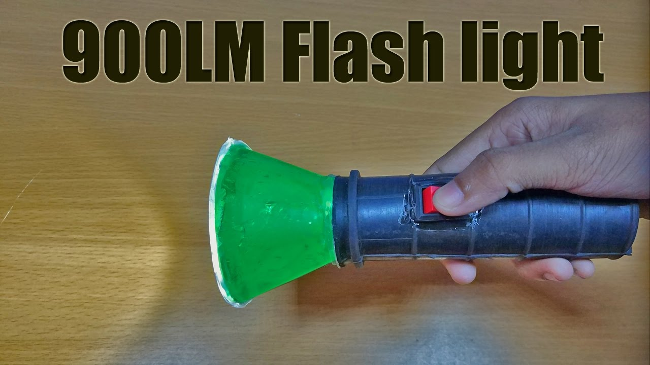 How to make a 900LM flash light