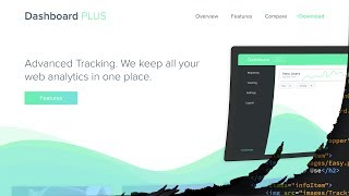 Web Design Speed art + Speed Code - Dashboard App Landing Page
