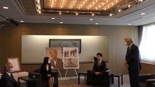 「福岡市名誉市民の称号」贈呈式を行いました