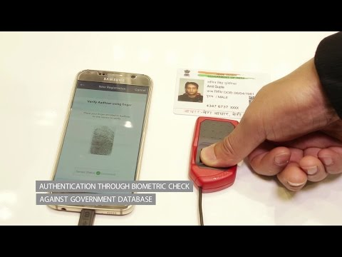 Creating a trusted mobile identity based on Aadhaar biometrics - YouTube