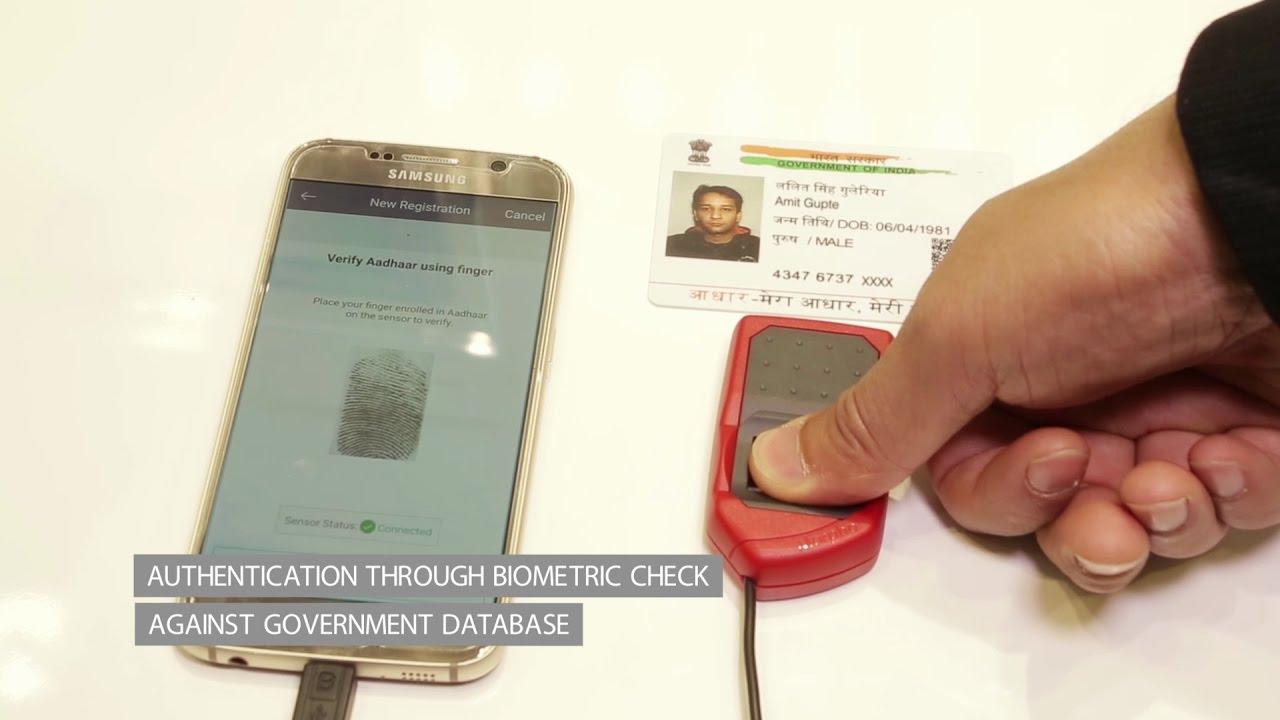 Creating a trusted mobile identity based on Aadhaar biometrics