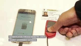 Creating a trusted mobile identity based on Aadhaar biometrics