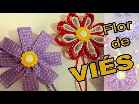 Dois Modelos de Flor de Viés + Kit...