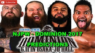 NJPW Dominion 2017 IWGP Tag Team Championship War Machine vs. Guerrillas of Destiny Predictions