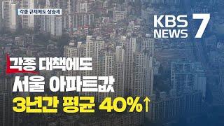 서울 아파트 가격, 3년간 평균 40% 상승...강북도…