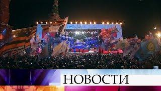 На выборах президента России число поддержавших В.Путина превзошло все предыдущие голосования.