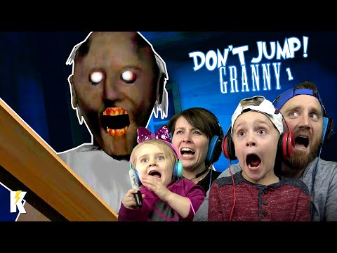 Try Not To JUMP In GRANNY Horror Game Family Challenge! |  K-City GAMING