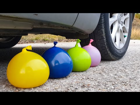 Crushing Crunchy & Soft Things By Car! EXPERIMENT CAR Vs JELLY BALLOONS