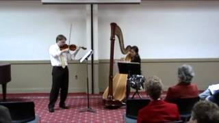 Camille Saint-Saëns - Fantaisie, for Violin and Harp - Excerpt 1