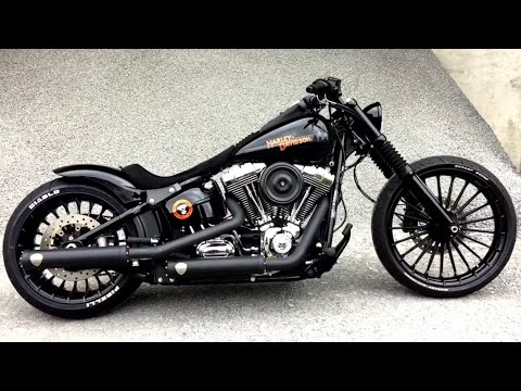 harley davidson fxsb black custom youtube. Black Bedroom Furniture Sets. Home Design Ideas