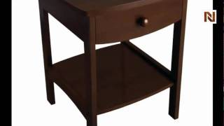 Winsome Curved End table/Night Stand with one drawer 94918