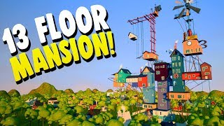 Getting Lost In The Neighbors GIANT 13 FLOOR MANSION! | Hello Neighbor