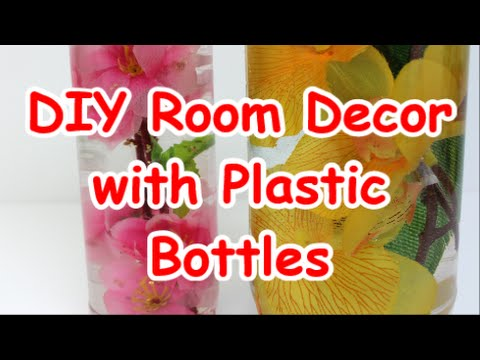 Diy room decor ideas with plastic bottles recycled bottles for Room decor you can make